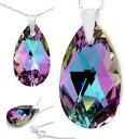 【送料無料】ネックレス スターリングシルバーコリアスワロフスキーen argent sterling 925 collier cristaux de swarovski larme 22mm