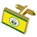 【送料無料】メンズアクセサリ— ベリーズシティゴールドフラッグカフスボタンボックスbelmopan city belize gold flag cufflinks engraved box