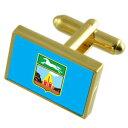 【送料無料】メンズアクセサリ— ロシアゴールドフラッグカフスボタンボックスbarnaul city russia gold flag cufflinks engraved box