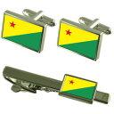 【送料無料】メンズアクセサリ— エーカーフラグカフスリンクネクタイピンセットacre flag cufflinks tie clip matching box gift set
