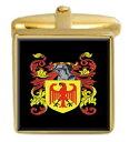 【送料無料】メンズアクセサリ— イギリスカフスボタンボックスコートkeatley england family crest surname coat of arms gold cufflinks engraved box