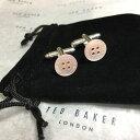 ショッピング真珠 【送料無料】メンズアクセサリ— パールpale pinkmens ted bakerカフスリンクバッグボタンmens ted baker cufflinks mother of pearl pale pink buttons silver plated bag