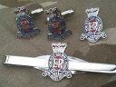 ショッピングネクタイ 【送料無料】メンズアクセサリ— カフスリンクバッジネクタイピンrhaセットroyal horse artillery cufflinks, badge, tie clip rha gift set