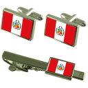 ショッピングBOX 【送料無料】メンズアクセサリ— フラグカフスボタンタイクリップマッチングボックスセットper flag cufflinks tie clip matching box gift set
