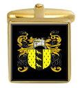 【送料無料】メンズアクセサリ- ニコルソンイングランドカフスボタンボックスコートnicholson england family crest surname coat of arms gold cufflinks engraved box