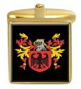 ショッピングスリーパー 【送料無料】メンズアクセサリ— スリーパーイングランドカフスボタンボックスコートsleeper england family crest surname coat of arms gold cufflinks engraved box