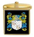 【送料無料】メンズアクセサリ- スコットランドカフスボタンボックスコートfuddie scotland family crest surname coat of arms gold cufflinks engraved box