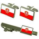 【送料無料】メンズアクセサリ? カルロヴィヴァリチェコカフスボタンタイクリップボックスセットkarlovy vary city czech republic flag cufflinks tie clip box gift set