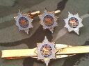 ショッピングネクタイ 【送料無料】メンズアクセサリ— ウースターシャーカフスボタンバッジネクタイクリップセットworcestershire regiment cufflinks, badge, tie clip military gift set