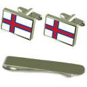 ショッピングthe north face 【送料無料】メンズアクセサリ— フラグシルバーカフスボタンタイクリップセットthe fares flag silver cufflinks tie clip engraved gift set