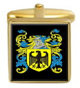 【送料無料】メンズアクセサリ— アイルランドカフスボタンボックスセットファミリークレストコートmacgourty ireland family crest coat of arms heraldry cufflinks box set engraved