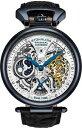 【送料無料】腕時計 ウォッチ デュアルタイムアラームスケルトンsthurling hombres emperor's hora dual automtico automtico esqueleto reloj