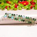 【送料無料】ブレスレット アクセサリ? オーストラリアトリプレットオパールエメラルドクオーツシルバーブレスレットresplendent australian triplet opal, emerald quartz 925 silver bracelet 78