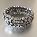 【送料無料】ブレスレット アクセサリ— ソフィアアッサンブラージュクリスタルストレッチブレスレットawesome lia sophia assemblage crystal stretch statement bracelet