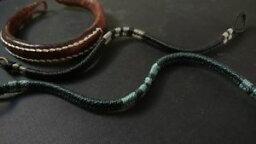 【送料無料】ブレスレット アクセサリ— クラシックメンズワックスストリングブレスレットレザーブレスレット listingtwo wakami classic mens wax string bracelets 8 14 amp; 1 leather bracelet