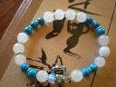 ショッピングジェル 【送料無料】ブレスレット アクセサリ— ヨガブレスレットリトルエンジェルターコイズyoga zen bracelet * little angel turquoise silver metal *
