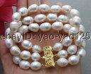 ブレスレット アクセサリ— ホワイトライスパールブレスレットr101213 3strds 12mm white rice pearl bracelet