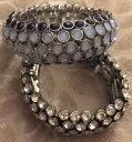 【送料無料】ブレスレット アクセサリ— nwt 2ライアソフィアwnwt 2 lia sophia beaded stretch bracelets wnavy blue silver clear crystal beads
