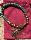 【送料無料】ブレスレット アクセサリ— カリビアンクールターコイズストレッチブレスレットドルsilpada krb0039 kamp;r caribbean cool turquoise brass stretch bracelet was 45