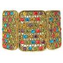 【送料無料】ブレスレット アクセサリ— カークハーレクインブレスレットマルチカラーgoldtone kirks folly harlequin sparkle stretch braceletmulticolorantique goldtone