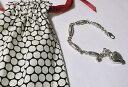 【送料無料】ブレスレット アクセサリ— ブライトンハートビーズブレスレットファブリックポーチbrighton silver plated heart beaded bracelet nwot fabric pouch