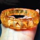 ショッピングビーズ 【送料無料】ブレスレット アクセサリ— gシトリンピラミッドビーズブレスレット40g natural yellow citrine pyramid quartz crystal rectangular beads bracelet