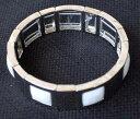 【送料無料】ブレスレット アクセサリ— ソフィアスチールシェードホワイトパールシーカフ signed lia sophia steel shades white pearls sea cuff elastic