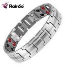 【送料無料】ブレスレット アクセサリ— シルバーカラーブレスレットチタニウムブレスレットmagnetic titanium bracelet for men silver color bracelets