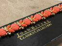 【送料無料】ブレスレット アクセサリ— ジョアンリバースデザイナーコーラルトーンラインストーンブレスレットボックスjoan rivers designer signed coral tone rhinestone bracelet boxed