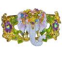 【送料無料】ブレスレット アクセサリ— エレファントカフブレスレットウォークkirks folly elephant walk cuff bracelet goldtone