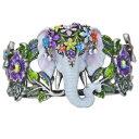 【送料無料】ブレスレット アクセサリ— エレファントカフブレスレットウォークkirks folly elephant walk cuff bracelet silvertone
