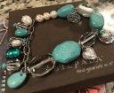 【送料無料】ブレスレット アクセサリ— スターリングシルバーライフブレスレットターコイズガールフレンドsilpada sterling silver turquoise pearl girlfriends for life conference bracelet