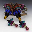 【送料無料】ブレスレット アクセサリ— ジュエリーバタフライカフラインストーンブレスレットイヤリングセットsorrelli jewelry butterfly cuff rhinestone crystals bracelet amp; earrings set