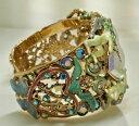【送料無料】ブレスレット アクセサリ— カフブレスレットレアkirks folly seaview moon lionheart cuff bracelet, goldtone rare