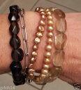 【送料無料】ブレスレット アクセサリ— パールスモーキークォーツトグルクラスプブレスレットsilpada ss copper pearls smokey quartz sunstone toggle clasp bracelet b1412