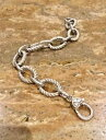 【送料無料】ブレスレット アクセサリ— judith ripkasterling925textured link bracelet fabulousjudith ripka sterling silver 925 textured link bracelet fabulous