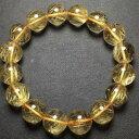 【送料無料】ブレスレット アクセサリ— ゴールドチタンルチルラウンドビーズブレスレットnatural gold titanium rutilated quartz crystal round beads bracelet 135mmaaa