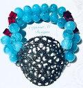 ショッピングアクアビーズ 【送料無料】ブレスレット アクセサリ— ストランドアクアビーズブレスレット2 strand aqua amp; gold filigree statement beaded bracelet ~eugeniam designs~
