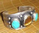 ショッピングブレスレット 【送料無料】ブレスレット アクセサリ— チベットタイガーアイターコイズビーズカフブレスレットcharming tibet tiger eye amp; turquoise beads cuff bracelet