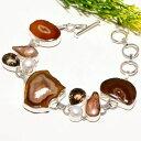 ショッピングUSB 【送料無料】ブレスレット アクセサリ— ウィンドウエスニックファッションジュエリーブレスレットbrown window druzy smoky gemstone ethnic fashion jewelry bracelet sb1732