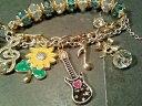 【送料無料】ブレスレット アクセサリ— ジョンソンクリスタルエナメルフラワーパワーブレスレットボックスbetsey johnson crystal amp; enamel flower power charm braceletfree gift boxnwt