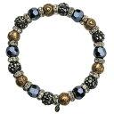 【送料無料】ブレスレット アクセサリ— ストレッチブレスレットアンティークkirks folly be still my heart crystal stretch bracelet antique goldtone