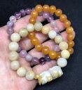 ショッピングASIAN 【送料無料】ブレスレット アクセサリ— 3 jb259listingvintageアジアガラスブレスレットロット listingvintage chinese asian glass bead stretchy bracelet peking lot of 3 jb259