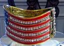 【送料無料】ブレスレット アクセサリ— アメリカブレスレットkirks folly red white and blue usa patriotic bracelet ~ brasstone