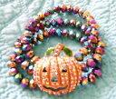 【送料無料】ブレスレット アクセサリ— カボチャブレスレットハロウィーンストレッチkirks folly starlight pumpkin stretch bracelet silvertone halloween