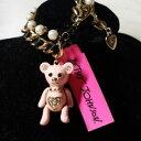【送料無料】ブレスレット アクセサリ— ジョンソンピンクテディベアブレスレットnwt rare betsey johnson pink teddy bear bracelet