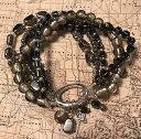 【送料無料】ブレスレット アクセサリ— ポンドヘマタイトブレスレットストレッチドルsilpada b1935 sterling silvr hematite hailstone stretch bracelet was 89