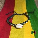 【送料無料】イタリアン ブレスレット ビーズブレスレットカフレゲエサーファーシェルrasta guscio a righe con perline braccialetti polso bracciale reggae surfer boho