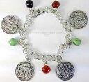 【送料無料】イタリアン ブレスレット カフコインコインマグナシルバーコインブレスレットギリシャbracciale monete moneta argento kroton magna grecia silver coin bracelet greece