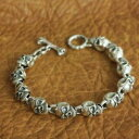 ショッピングSSK 【送料無料】メンズブレスレット ハンドメイドスターリングシルバースカルチェーンメンズバイカーパンクブレスレットhandmade 925 sterling silver details skull chain mens biker punk bracelet ta129c